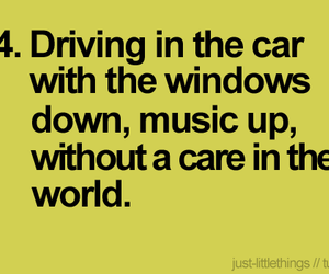 music, text, and car image