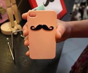 case, iphone, and moustache image
