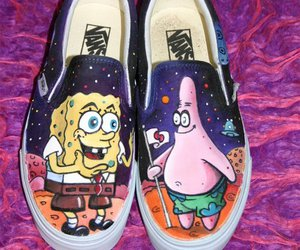vans, patrick, and spongebob image