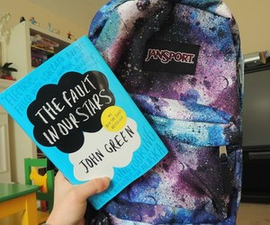 book, jansport, and galaxy image