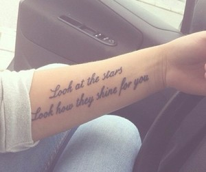 tattoo, quote, and stars image