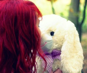 bunny, red, and teddy image