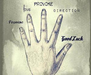 direction, hand, and love image