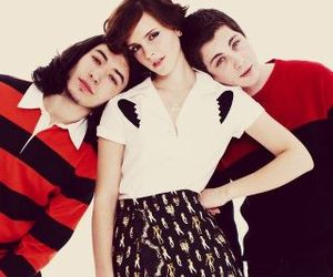emma watson, ezra miller, and perks of being a wallflower image