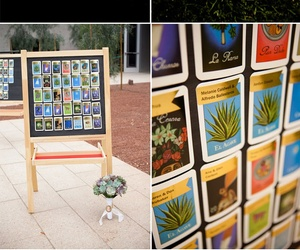 loteria, Tables, and wedding image