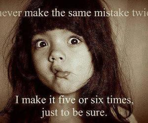 mistakes, funny, and quote image