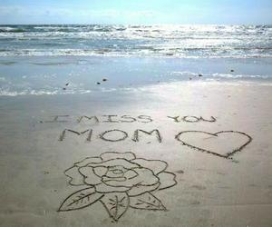 beach and mom image