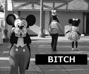 bitch, mickey, and disney image