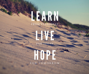 hope, live, and learn image