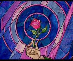 beauty and the beast and enchanted rose image