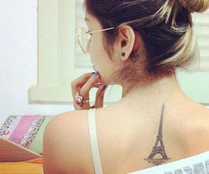 girls, paris, and tattoo image