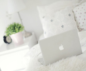 apple, white, and bedroom image