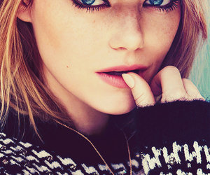 emma stone, actress, and blue eyes image