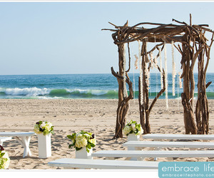 beach, decoration, and flowers image