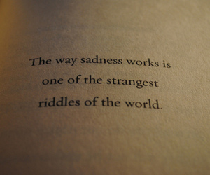 sadness, quotes, and riddle image