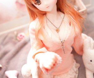 doll, pink, and dollfie image