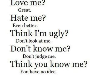 hate, quote, and ugly image
