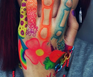 hand, art, and colors image