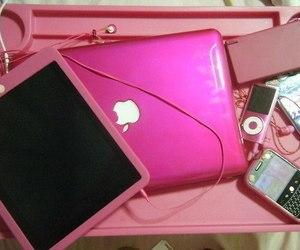 pink, apple, and ipad image