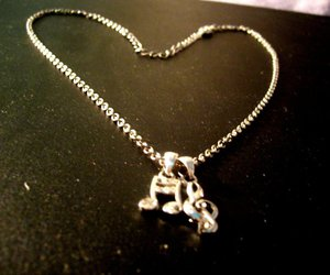 heart, music notes, and necklace image