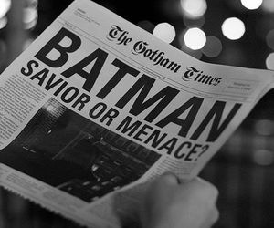 batman, newspaper, and photography image