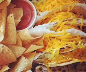 cheese, tacos, and yummy image