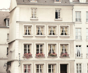 house, flowers, and paris image