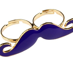 moustache, purple, and ring image