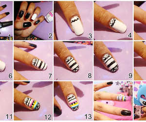 nails, tribal, and tutorial image