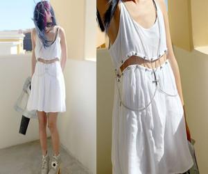 clothing, white dress, and diy image