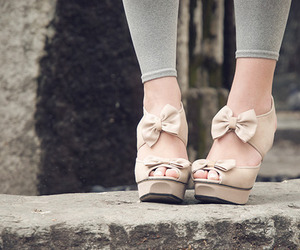 bow, shoes, and fashion image