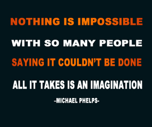 inspiration, Michael Phelps, and quote image