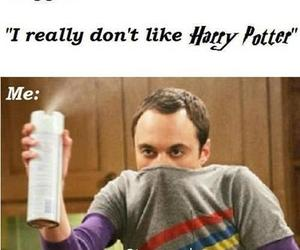 harry potter, sheldon cooper, and funny image