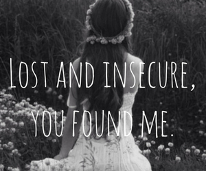 lost, insecure, and quote image