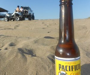 beach, beer, and mexico image