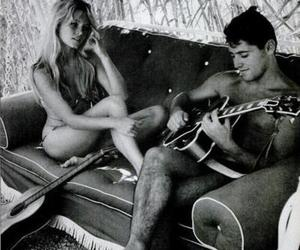 couple, guitar, and surf image