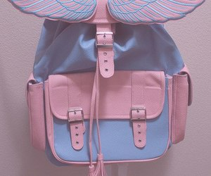 pink, bag, and blue image