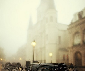 city, fog, and new orleans image