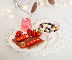 food, strawberry, and banana image