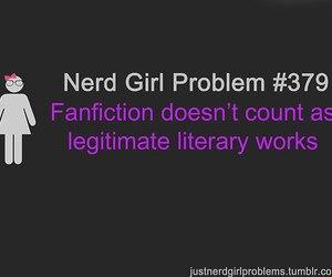 nerd girl problems image