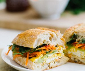 banh mi, sandwich, and eggs image
