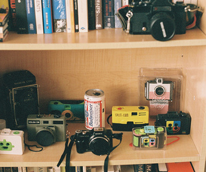 books, cameras, and photography image
