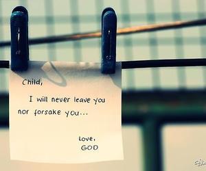god, love, and child image