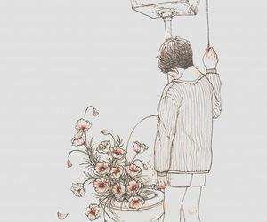 art, flowers, and illustration image