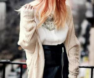 beenie, hair, and skirt image