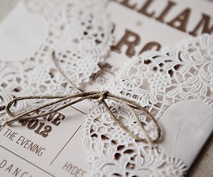 lace, wedding, and invitation image