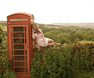 countryside, red telephone box, and 7 365 image