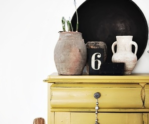 home, yellow, and decoration image