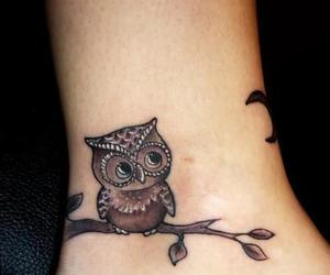 moon, owl, and tattoo image