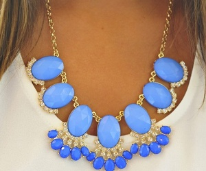 necklace, blue, and accessories image